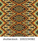 geometric folklore ornament.... | Shutterstock .eps vector #1032154582
