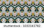 ikat geometric folklore... | Shutterstock .eps vector #1032161782