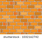 red brick wall seamless vector... | Shutterstock .eps vector #1032162742