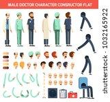 constructor of doctor character ... | Shutterstock . vector #1032165922