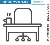 office   workplace icon.... | Shutterstock .eps vector #1032167386