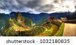 colorful panoramic hdr image of ... | Shutterstock . vector #1032180835