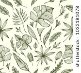 seamless pattern from hand draw ...   Shutterstock .eps vector #1032181078