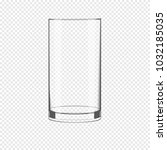 empty glass cup isolated on a... | Shutterstock .eps vector #1032185035