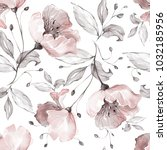 seamless pattern with spring... | Shutterstock . vector #1032185956