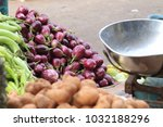 Small photo of A bunch of brinjal at KR market in Bangalore