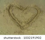 artistic sand drawings on the... | Shutterstock . vector #1032191902