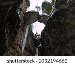 breitachklamm in winter icicles ... | Shutterstock . vector #1032194662