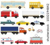 urban transport  public... | Shutterstock .eps vector #1032194842