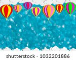 3d illustration of colorful air ... | Shutterstock . vector #1032201886