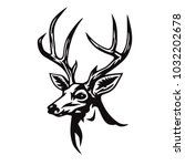 Deer Stylized Drawing Vector...