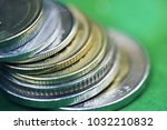close up silver coin    thai... | Shutterstock . vector #1032210832
