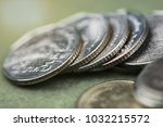 close up on thai baht coin ... | Shutterstock . vector #1032215572