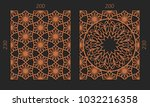 laser cutting set. woodcut... | Shutterstock .eps vector #1032216358