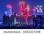 nanjing urban architectural... | Shutterstock . vector #1032227248