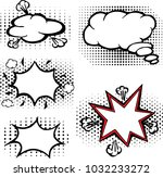 the pop art and comics set of... | Shutterstock .eps vector #1032233272