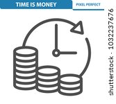 time is money icon.... | Shutterstock .eps vector #1032237676