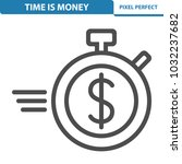 time is money icon.... | Shutterstock .eps vector #1032237682