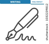 writing icon. professional ... | Shutterstock .eps vector #1032239812