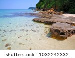 the natural beach in the west... | Shutterstock . vector #1032242332