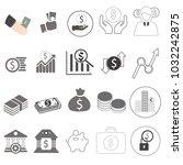 finance set  money online icon...   Shutterstock . vector #1032242875