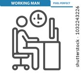 working man icon. professional  ... | Shutterstock .eps vector #1032243226