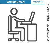 working man icon. professional  ... | Shutterstock .eps vector #1032243232