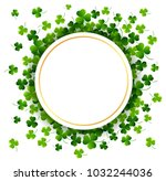 st. patricks day  abstract... | Shutterstock .eps vector #1032244036