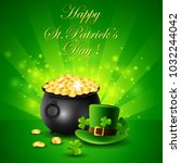 st.patricks day  treasure of... | Shutterstock .eps vector #1032244042
