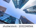 up view of modern office... | Shutterstock . vector #1032248566