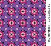 seamless african print circles