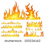 fire isolated in white | Shutterstock .eps vector #103226162