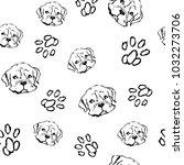 black and white seamless vector ... | Shutterstock .eps vector #1032273706