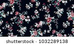 seamless floral pattern in... | Shutterstock .eps vector #1032289138