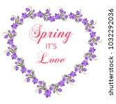 crocus flowers spring floral... | Shutterstock .eps vector #1032292036