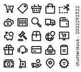 e commerce related icons for... | Shutterstock .eps vector #1032292522