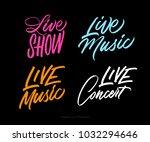 live music  show  concert.... | Shutterstock .eps vector #1032294646