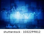 2d rendering stock market... | Shutterstock . vector #1032299812