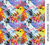 trendy abstract pattern ... | Shutterstock . vector #1032303016