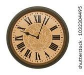clock. vector illustration... | Shutterstock .eps vector #1032304495