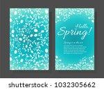 hello spring hand written... | Shutterstock .eps vector #1032305662
