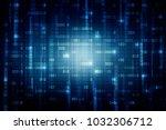 2d illustration abstract... | Shutterstock . vector #1032306712