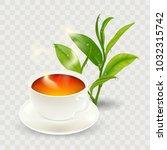 morning tea. design poster of... | Shutterstock .eps vector #1032315742