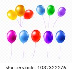 helium balloon bunch and latex... | Shutterstock .eps vector #1032322276