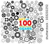 SET of 100 different gears VECTOR (part 3) - stock vector