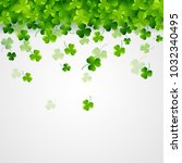 st. patricks day  abstract... | Shutterstock .eps vector #1032340495