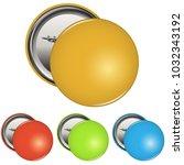 color blank pin button badge... | Shutterstock .eps vector #1032343192