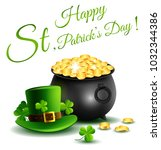 st.patricks day  treasure of... | Shutterstock . vector #1032344386
