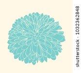 vector handdrawn dark blue... | Shutterstock .eps vector #1032362848