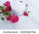 cream cosmetic natural pink... | Shutterstock . vector #1032363766